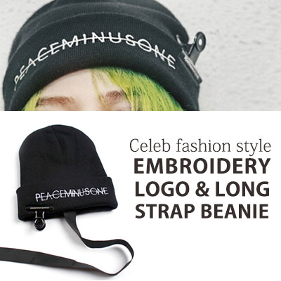 [UNISEX] BIGBANG/GD/G-DRAGON STYLE. LOGO&LONG STRAP BEANIE(not include CLIP)