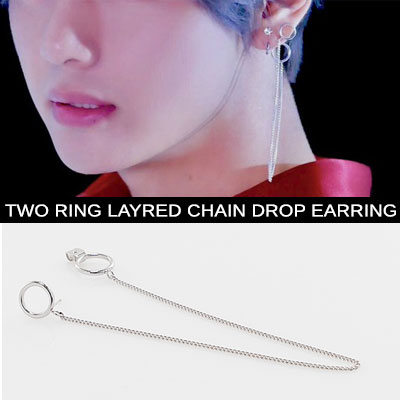 [UNISEX] BTS [DNA]MV V STYLE/taetae/2 ring chain pierce(2type)