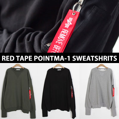 [UNISEX] RED TAPE POINT MA-1 SWEATSHIRTS(3color)