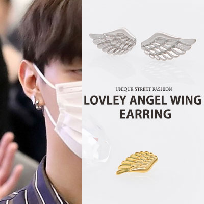 [UNISEX] WANNA ONE st.LOVELY ANGEL WING EARRING(2color)
