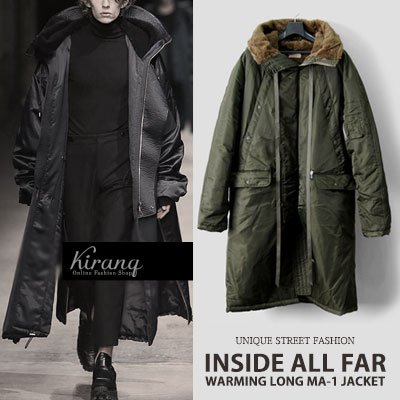 [UNISEX] OVER FIT SIZE/BODY 3oz/WARMING LONG MA-1 JACKET(2color)
