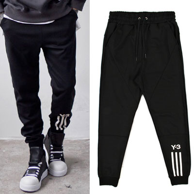 [UNISEX] ONE SIDE WHITE LINE POINT JOGGER PANTS(2color)