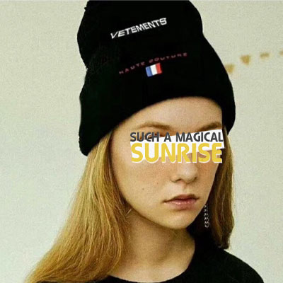 [UNISEX] FRANCE FLAG PATCH LOGO EMBROIDERY BEANIE