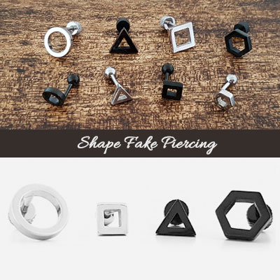 SHAPE FAKE PIERCING(4type/2size./2color)