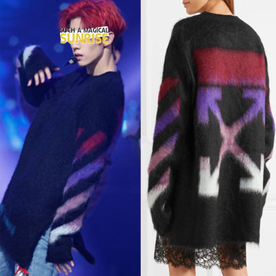 [UNISEX] GOT7st. highquality ARROW MULTI COLOR MOHAIR BLENDING SWEATER(2color)