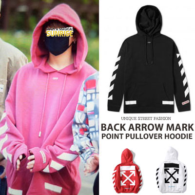 [UNISEX] BTS/JUNG KOOK st/BACK ARROW MARK POINT PULLOVER HOODIE(3color)
