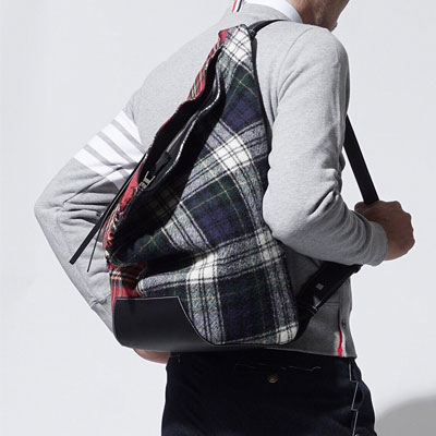 RED/GREEN CHECK SHOULDER BACK PACK