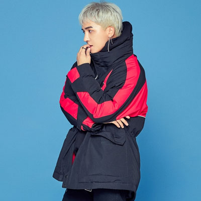 [8seconds][MINO's pick] WINNER style!BLACK HALF NECK OVERSIZE DOWN JACKET/SongMiNo/KangSeungYoon/KimJinWoo/LeeSeungHoon