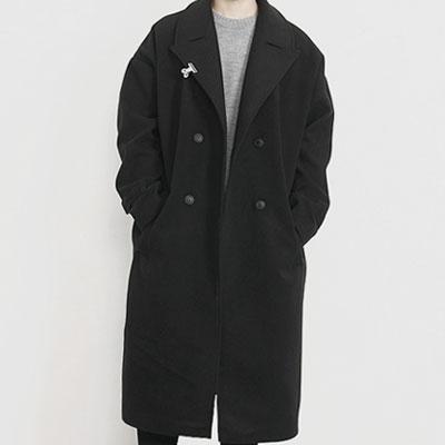 [UNISEX] OVERSIZE CLIP BLACK COAT