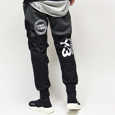 [UNISEX] POCKET&STRAP POINT JOGGER PANTS