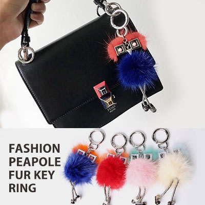 FASHION PEOPLE FUR KEY RING(4color)