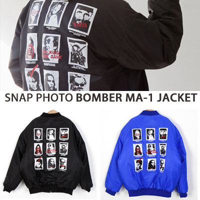 [UNISEX] SNAP PHOTO BOMBER MA-1 JACKET(2color)