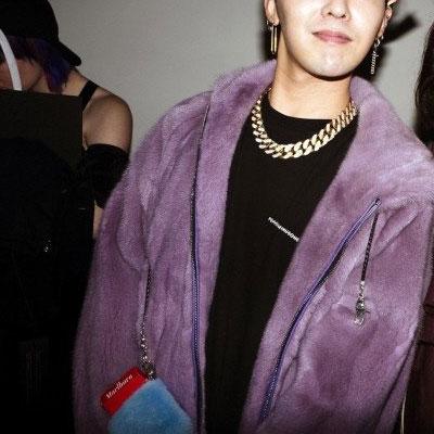 [UNISEX] BIGBANG/GD/G-DRAGON/SWAG FUR ZIPUP HOOD PARKA(purple,pink)