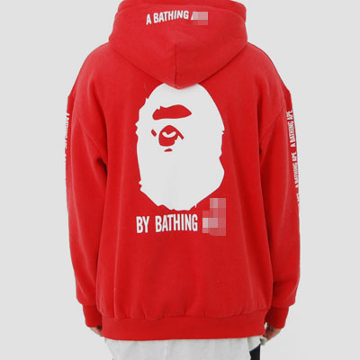 [UNISEX] GORILLA BACK PRINT POINT PULLOVER HOODIE(2color)