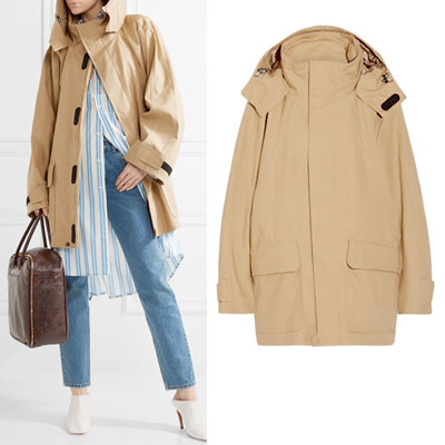 [UNISEX] VELCRO HIGH NECK COLLAR BEIGE HALF COAT JACKET(2color)