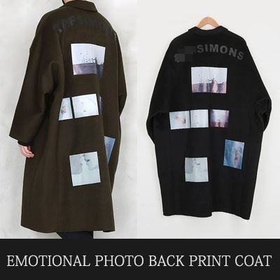 【limited】[UNISEX] EMOTIONAL PHOTO BACK PRINT COAT(2color,2size)