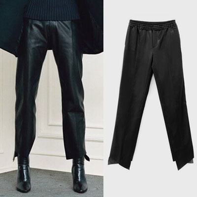【PAPER MOON】 CUTOUT HAM LEATHER PANTS(2size)