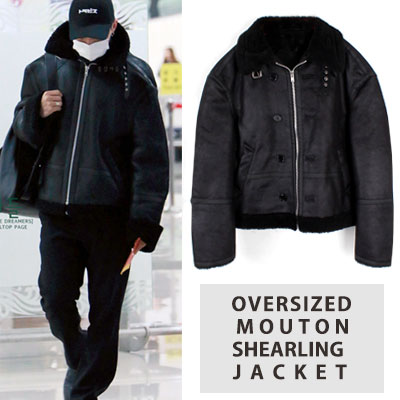 [UNISEX] bigbang/gd/gdragon st.OVERSIZED MOUTON SHEARLING JACKET