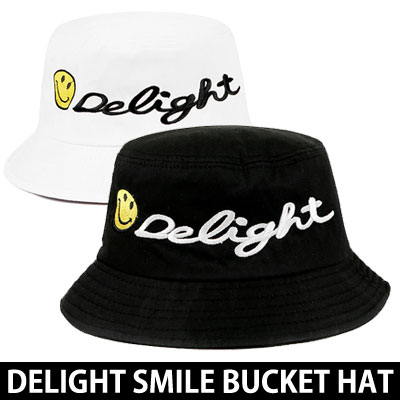 [UNISEX] DELIGHT SMILE BUCKET HAT(2color)