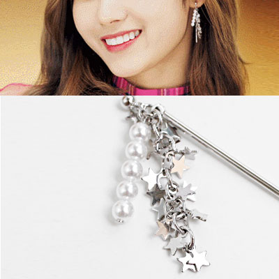 TWICE SANA MINA st.PEARL STAR DROP EARRING(2color)