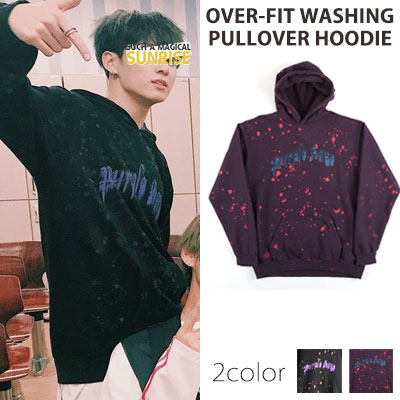 [UNISEX] BTS JUNGKOOK ST. OVER FIT WASHING PULLOVER HOODIE(2color)