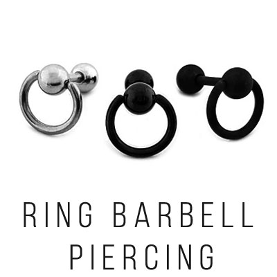 [UNISEX] [1ea]RING BARBELL PIERCING(3color)