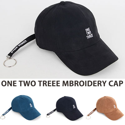 [UNISEX] ONE TWO TREE EMBROIDERY BALL CAP(4color)