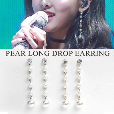 [original] TWICE NAYEON st.PEARL LONG DROP EARRING(2color)