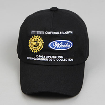 [UNISEX] MULTI LOGO EMBROIDERY CAP