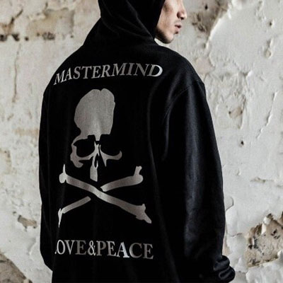 [UNISEX] SKULL PRINT VINTAGE DAMAGE HOODIE(2color)