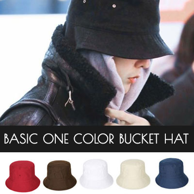 [UNISEX] BIGBANG GD st. BASIC ONE COLOR BUCKET HAT(6color)