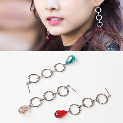 [original] TWICE TZUYU st! DROP RING CHAIN GLASS BEADS(3color)