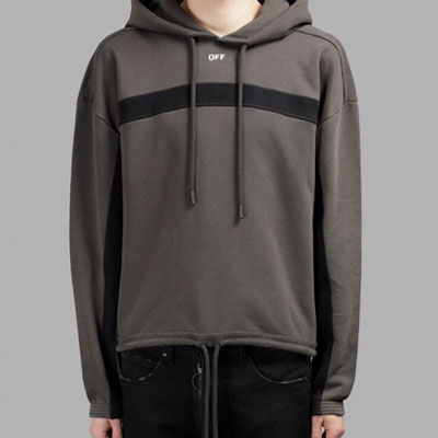 [UNISEX] ONE LINE POINT STRING PULLOVER HOOD SHIRTS