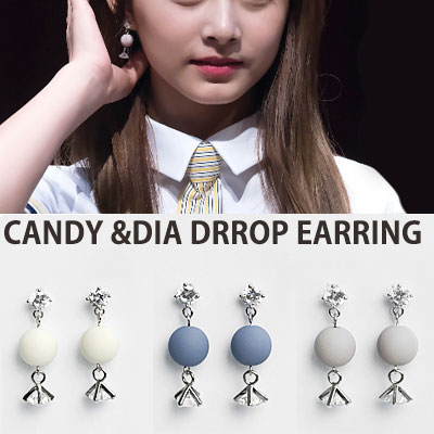 [original] TWICE Jungyeon,Chaeyoung,Tzuyu,Jihyo style/CANDY DIA DROP EARRING(4color)