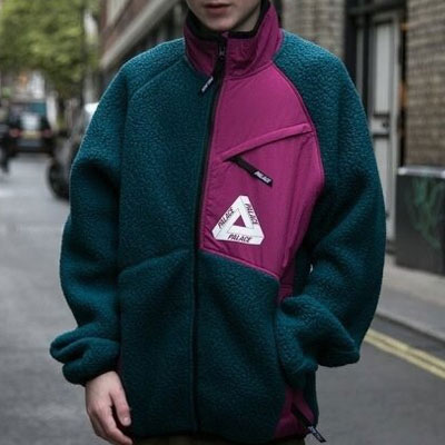 [UNISEX] TRIANGLE LOGO FLEECE ZIPUP JACKET(2color)