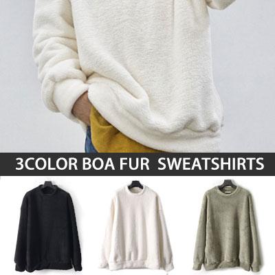 [UNISEX] 3CLOR BOA FUR SWEATSHIRTS(3color)