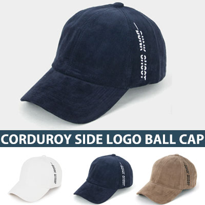 [UNISEX] CORDUROY SIDE LOGO BALL CAP(4color)