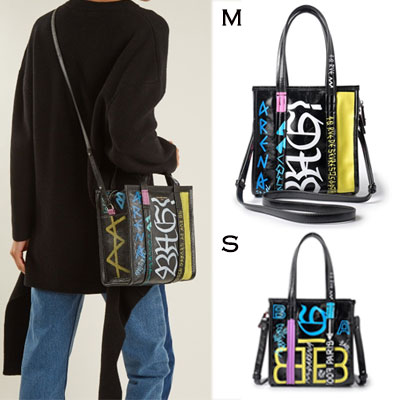 GRAFFITI SQUARE SHOPPER yellow BAG(S,M)