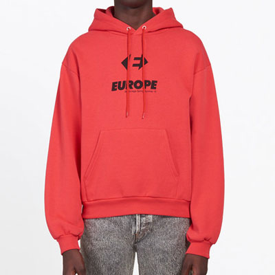 [UNISEX] EUROPE LOGO POINT PULLOVER HOODIE