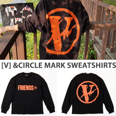 [UNISEX] V LOGO LIGHTNING CIRCLE MARK SWEATSHIRTS