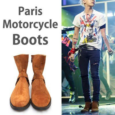 Ladies size in stock[24.0~28.0cm] ★ G-dragon style!  Paris motorcycle boots