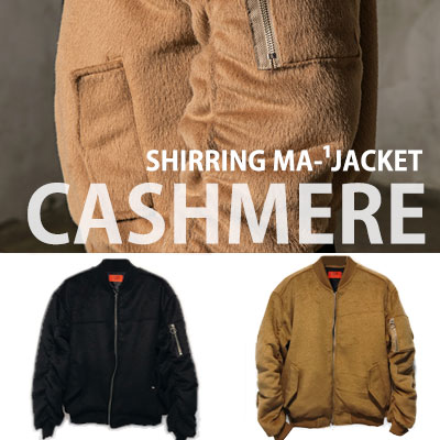 [UNISEX] SHIRRING MA-1 CASHMERE JACKET(2color 2size)