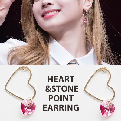 [original] TWICE st. HEART RING & STONE POINT EARRING(12color)