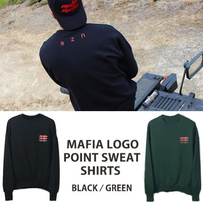[UNISEX] MAFIA LOGO POINT CREWNECK SWEATSHIRTS(2color)