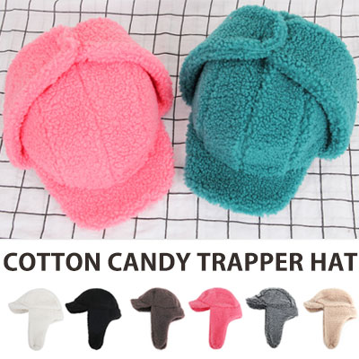 [UNISEX] COTTON CANDY COLOR TRAPPER HAT(7color)
