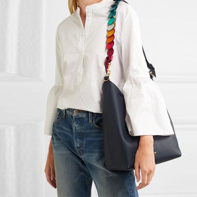 [Cowhide]RAINBOW CIRCLE STRAP COWHIDE SHOULDER BAG(3color)