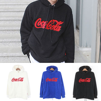 [UNISEX] FLEECE COKE HOOD(3color)