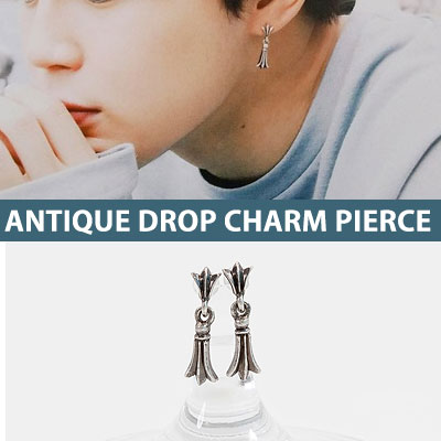 BTS Jimin/INFINITE st. ANTIQUE SIMPLY DROP CHARM PIERCE(3type)