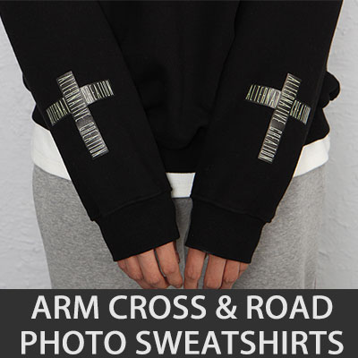 [UNISEX] ARM CROSS&ROAD PHOTO SWEATSHIRTS(4color)