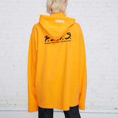 [UNISEX] ORANGE&NEON COLOR LONG HOOD T-SHIRTS(2color)